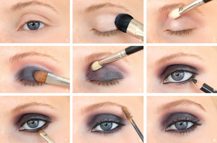 smokey eyes schminken schminkanleitung schminktipps braune augen schritt für schritt6