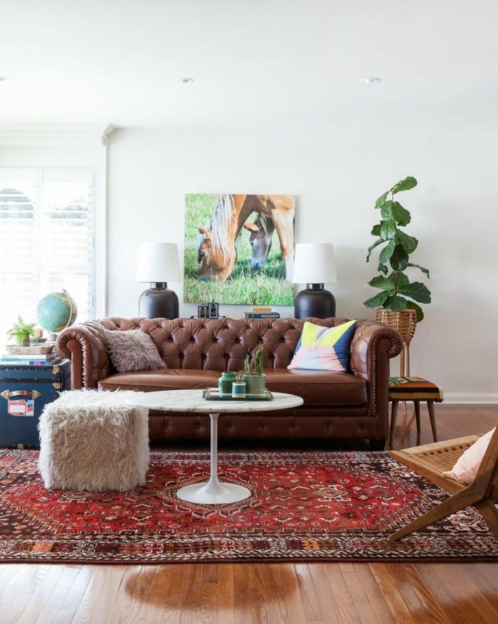 Chesterfield sofa ein st ck klasse ins innendesign bringen - Chesterfield wohnzimmer ...
