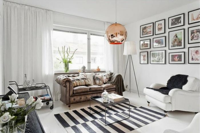 Schwarze Couch Kombinieren : sofa chesterfield skandinavischer ...