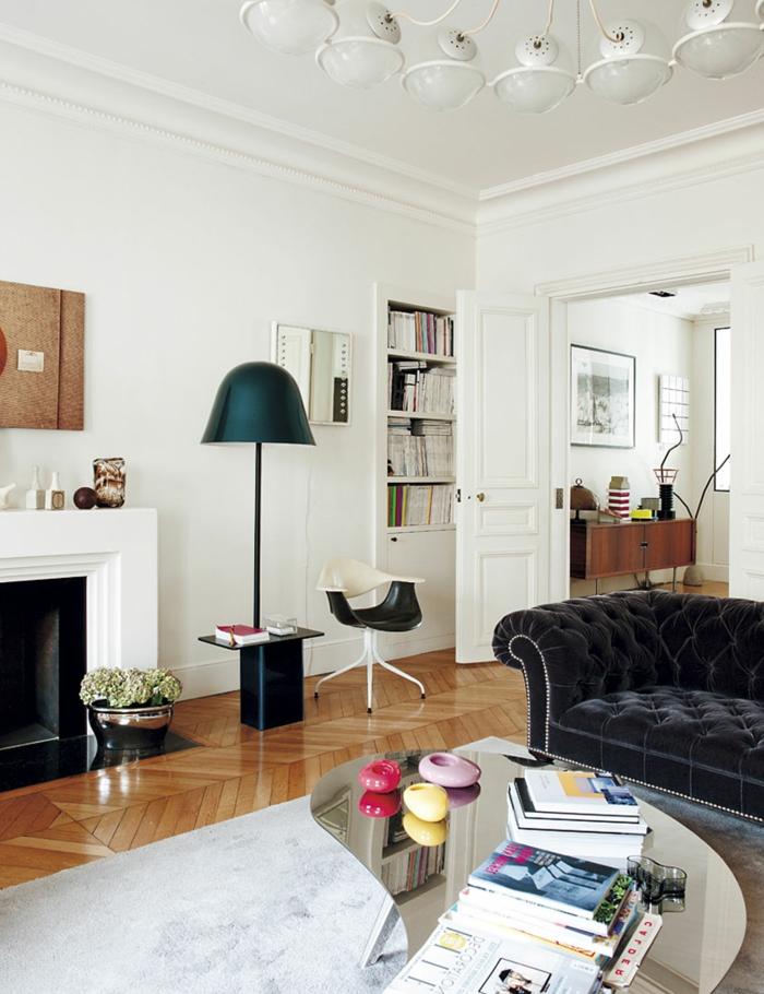 Sofa Chesterfield Wohnideen Wohnzimmer Eleganter Teppich