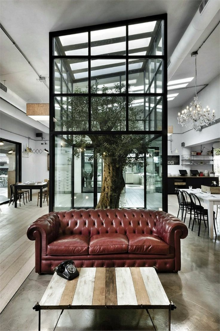 sofa chesterfield wohnzimmer einrichten schick klassisch