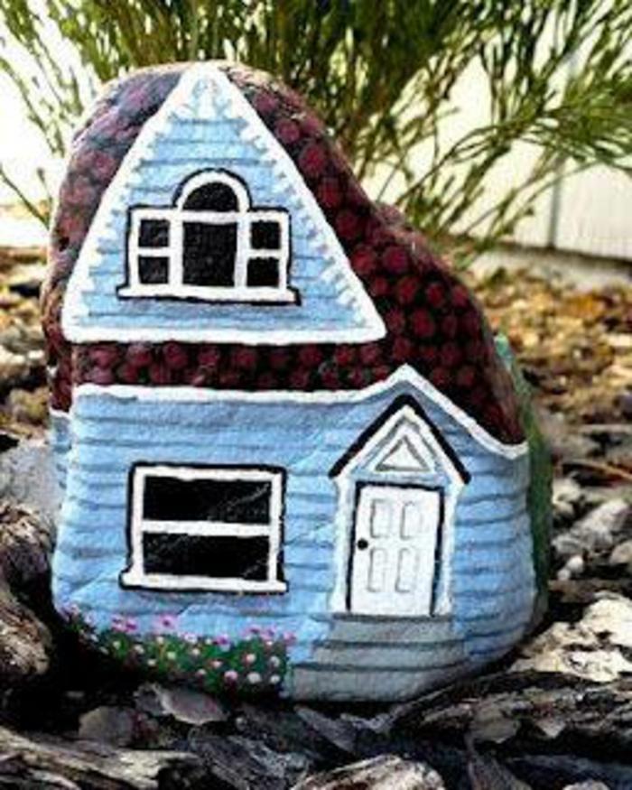 Steine bemalen von bastelideen zur wertvollen kunst for Haus umrisse