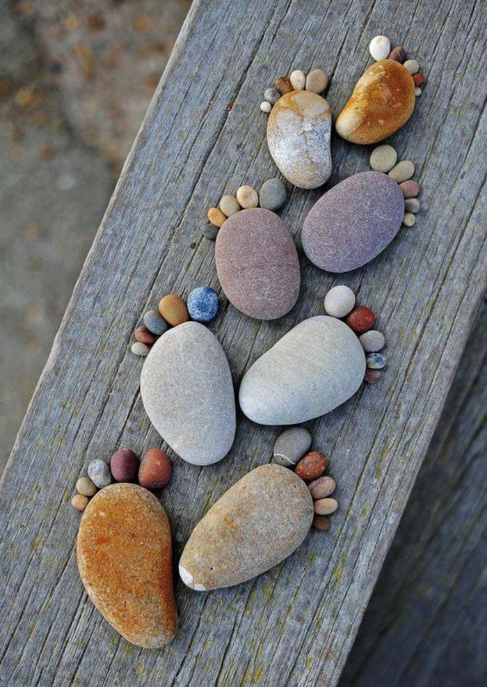 geschenkideen bemalten steine basteln mit steinen schritte