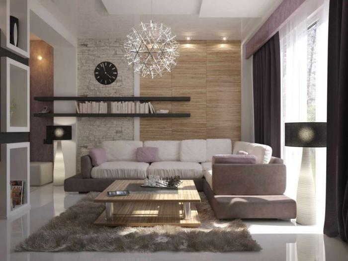 design : wohnzimmer design steinwand ~ inspirierende bilder von ... - Wohnzimmer Mit Steinwand