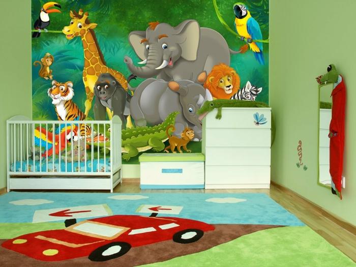 Tapete kinderzimmer gro und klein verliebt sich in - Babyzimmer tapete ...