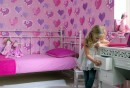 tapete-kinderzimmer-mädchenzimmer-gestalten-rosa-herzen