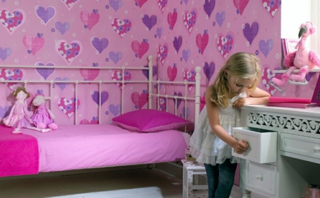 coole kinderzimmer tapete die 25 besten ideen zu herz. Black Bedroom Furniture Sets. Home Design Ideas