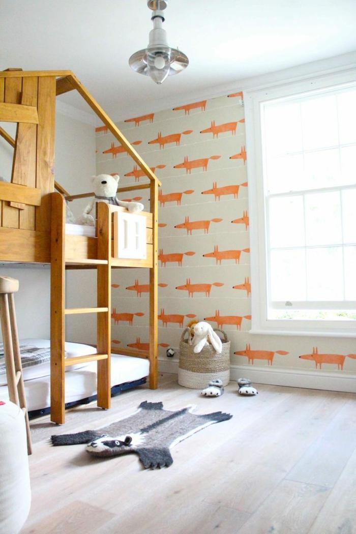 tapete kinderzimmer orange fuchse ausgefallener teppich
