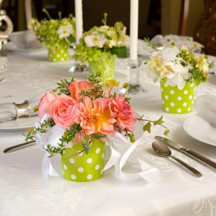 Tischdeko blumen einfach  ▷ 1001+ Ideen für Tischdeko - wie Sie den Tisch mit Blumen dekorieren