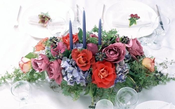 tischdeko elegante und frische dekoidee für den festlichen tisch