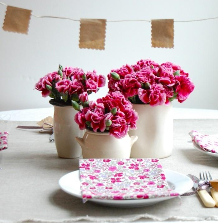 tischdeko farbenfrohe dekoideen für den festlichen tisch