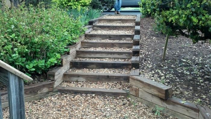 Gartentreppe holz gartenideen mit treppen - Treppe garten ...