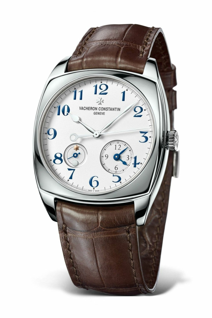 uhrenmarken herren echtleder braun armbanduhr luxusmarke vacheron constantin
