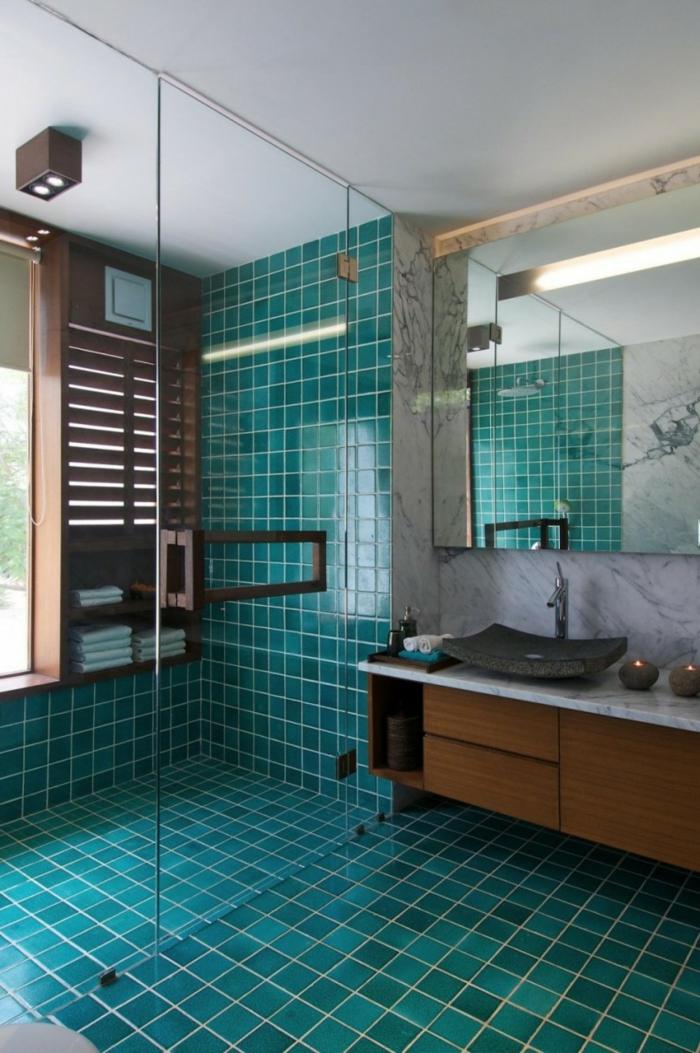 wandgestaltung bad fliesen grün badideen kleines bad