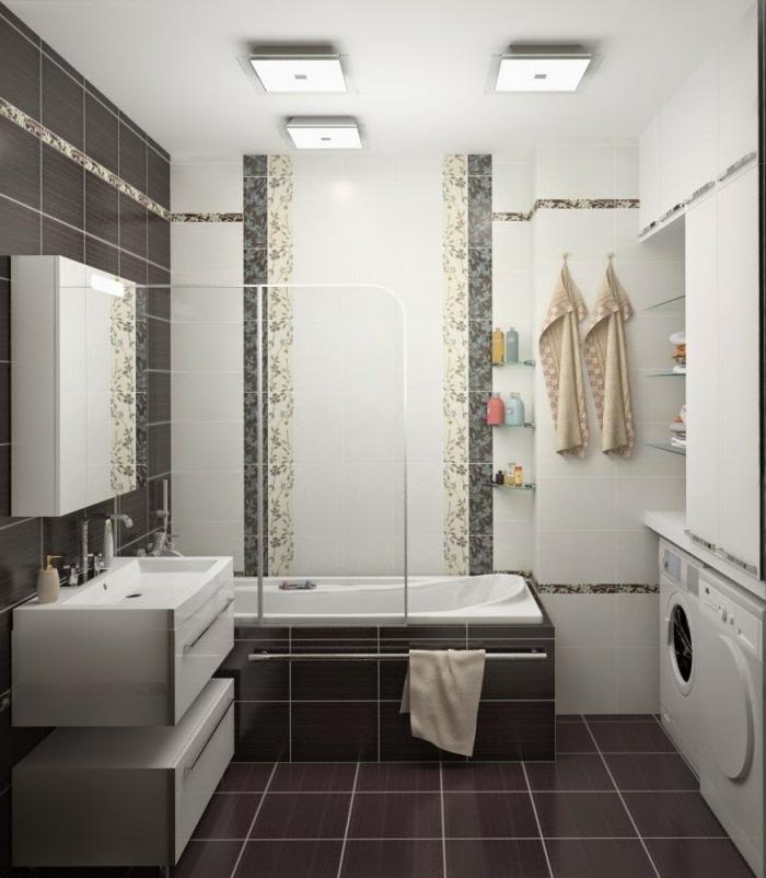wandgestaltung ideen bad verschiedene. Black Bedroom Furniture Sets. Home Design Ideas