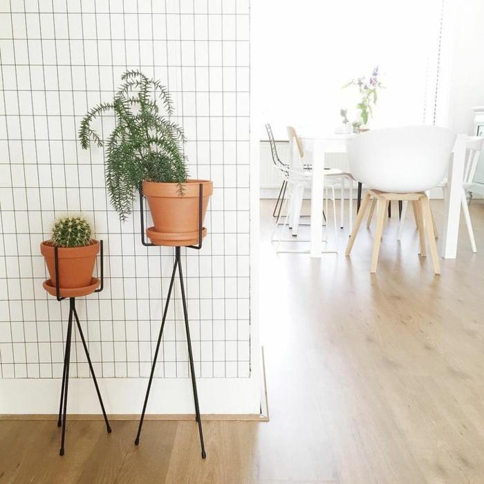 wohnideen dekoideen innenpflanzen offener wohnplan