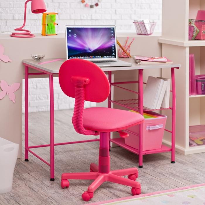wohnideen kinderzimmer rosa möbel mädchenzimmer lernbereich
