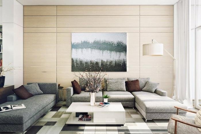 wohnzimmer accessoires bringen leben ins zimmer: Wände schaffen eine stilvolle Kombinaition im modernen Wohnzimmer