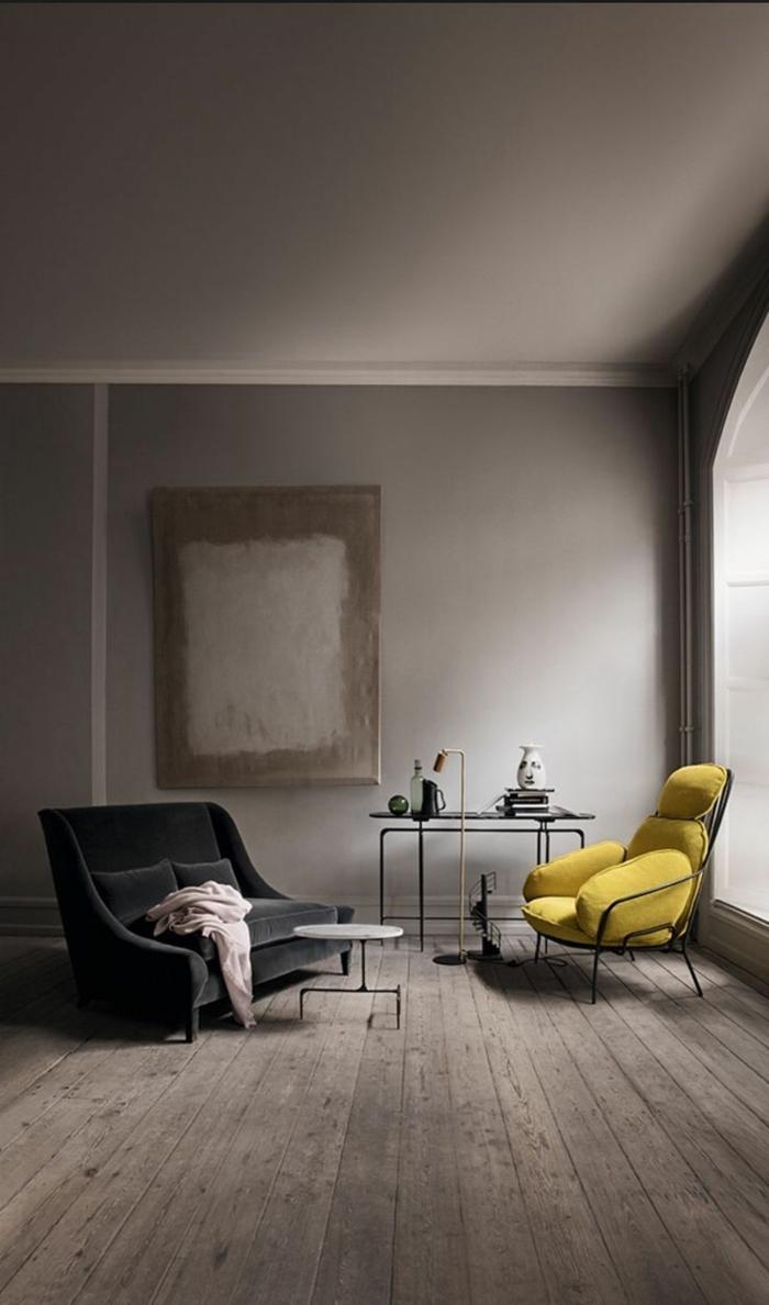 wohnideen wohnzimmer gelb