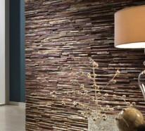 Steinwand Wohnzimmer – 43 Beispiele, wie Steine auf das Ambiente wirken