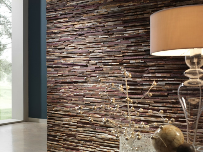 wohnzimmer steinwand dekoideen akzentwand - Natursteinwand Wohnzimmer