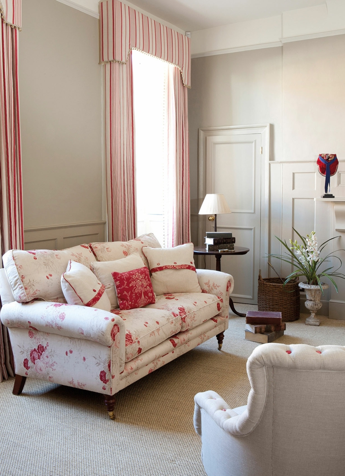 wohnzimmereinrichtung ideen ausgefallenes sofa teppichboden pflanzen
