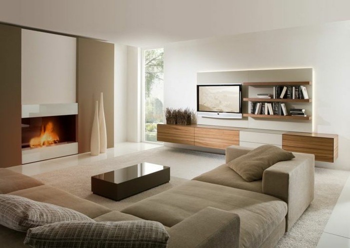 wohnzimmerboden modern:Wohnzimmer modern einrichten – 59 Beispiele für modernes Innendesign