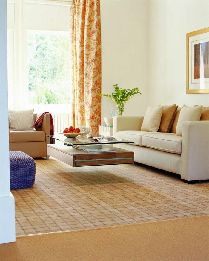 wohnzimmerteppich gemütlicher teppich in neutralen farben
