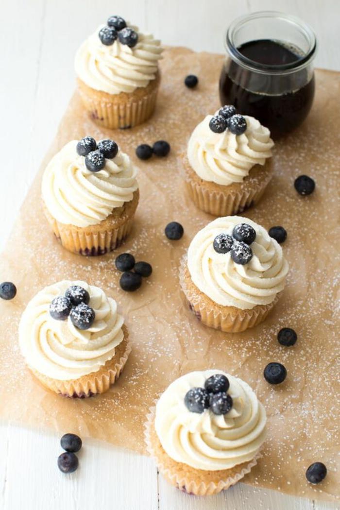 Blaubeer Cupcakes Rezept leckere Törtchen selber backen
