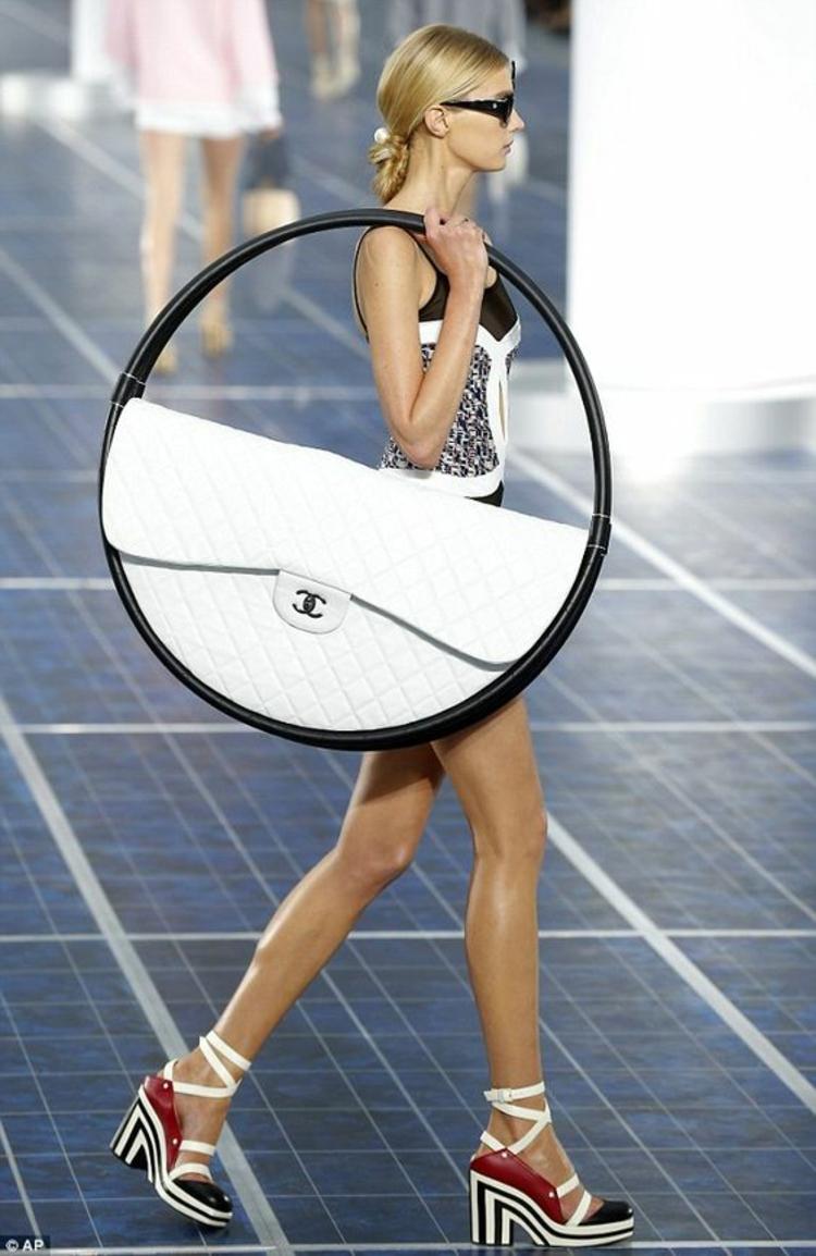 Designer Handtaschen Chanel Taschen Laufstegmode Tasche Hula Hoop