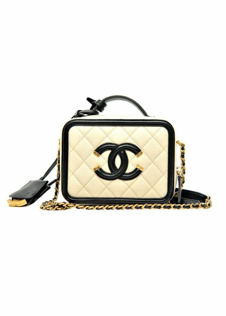 Designer Handtaschen Chanel Taschen schwarz weiß