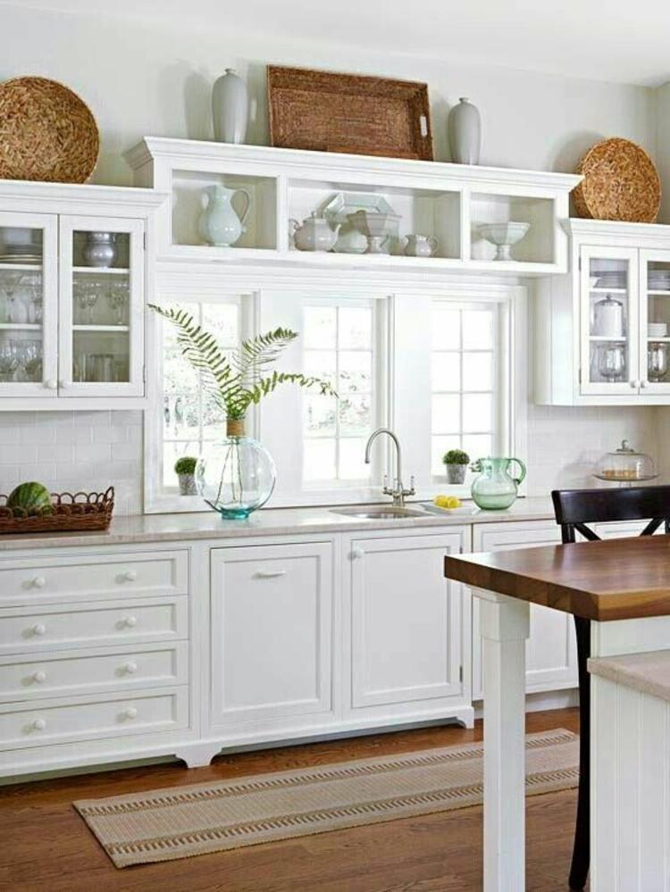 Fensterdeko Ideen Küche Deko Vasen Zimmerpflanzen