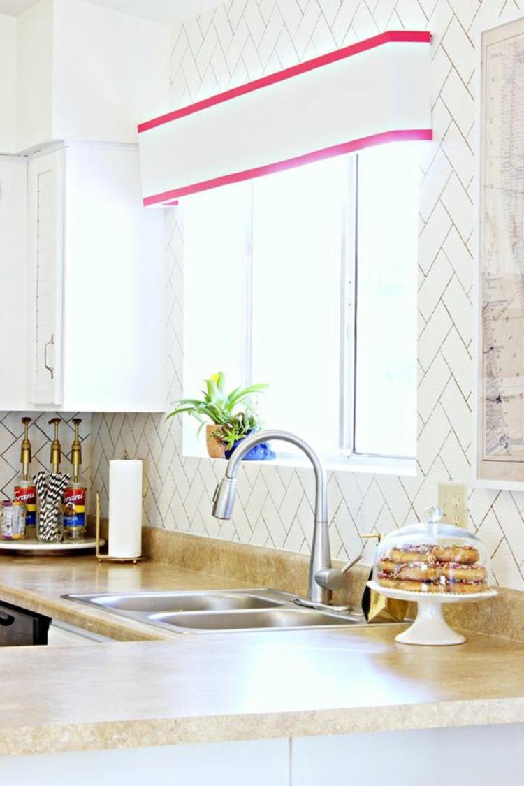 Fensterdeko Ideen Küche Zimmerpflanzen Farne Fensterdekoration