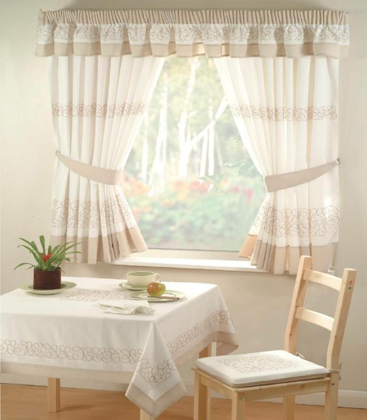 Fensterdeko Ideen Küche Zimmerpflanzen Küchengardinen