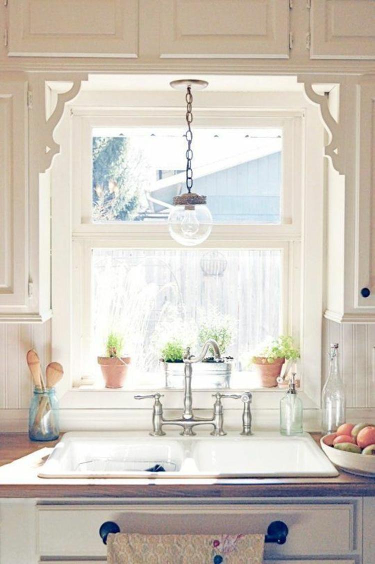 Fensterdeko Ideen Küche Zimmerpflanzen Topfpflanzen