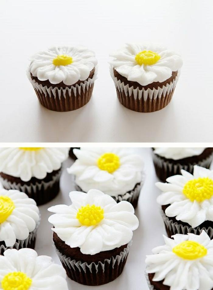 Gänseblümchen Cupcakes Rezept kleine Törtchen selber backen