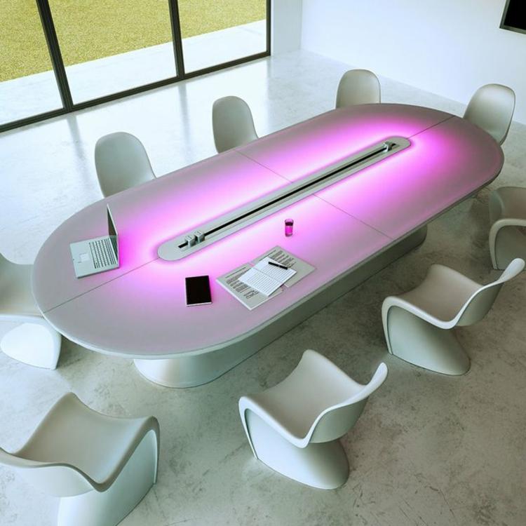 Home Office einrichten Schreibtisch Büromöbel Stühle