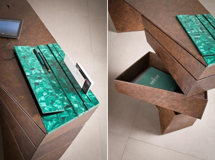 Home Office einrichten Schreibtisch Schubladen