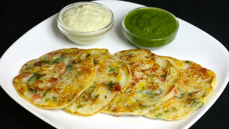 Indien Uttapam Pfannkuchenteig Rezepte für Pfannkuchen weltweit