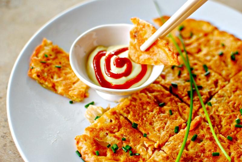 Korea Kimchijeon Kimchi Pancakes Rezepte Pfannkuchen weltweit