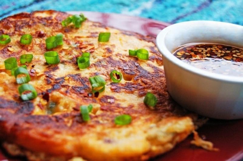 Korea Kimchijeon Kimchi Pancakes Rezepte für Pfannkuchen weltweit