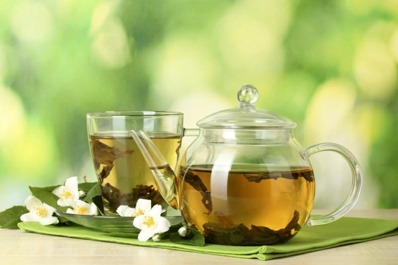 Lebensmittel die fett verbrennen Grüner Tee gesunde Lebensweise
