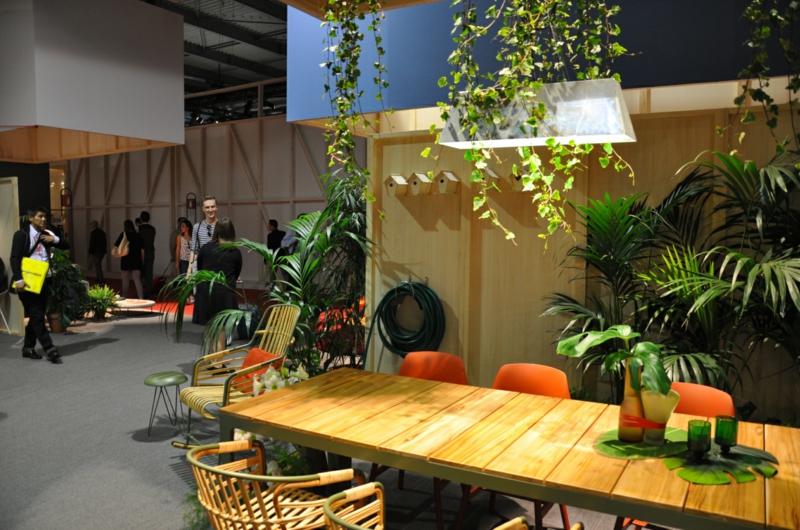Messe Mailand Salone del Mobile 2016 grüne Innenarchitektur