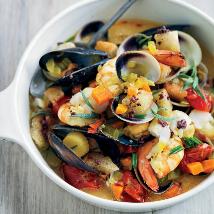 Muscheln kochen nah suppe
