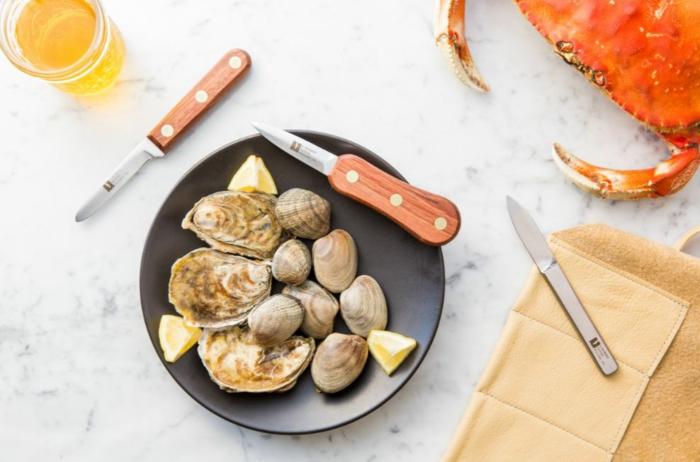 Muscheln kochen nah vorspeise besteck set