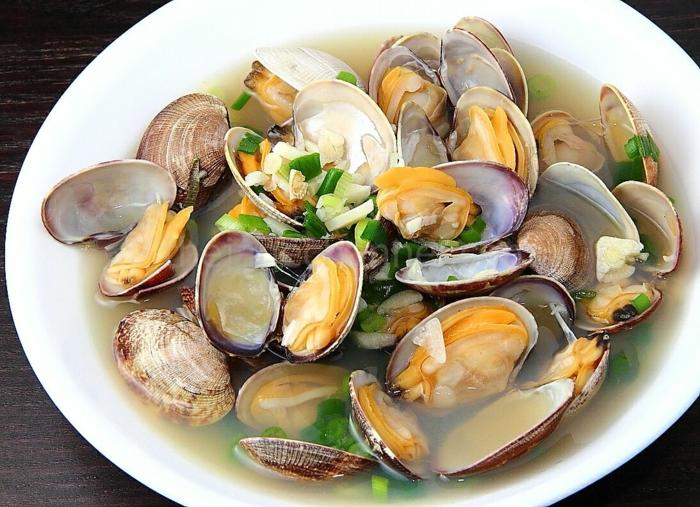 Muscheln kochen nah vorspeise besteck set lecker koriander