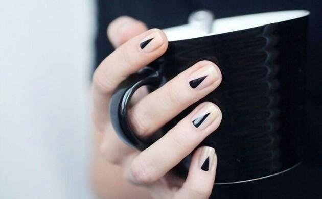 Nageldesign-Bilder-Fingernägel-Trends-geometrische-Elemente