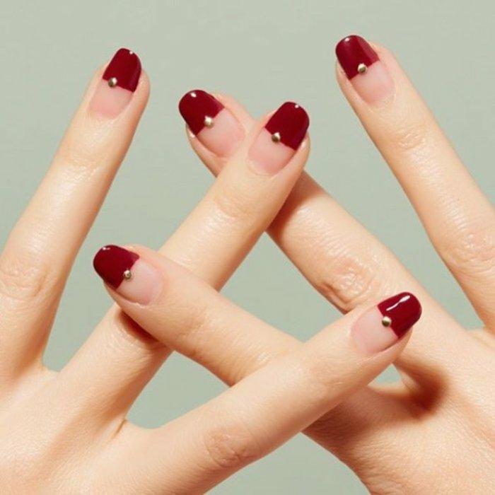 Nageldesign Bilder Fingernägel Trends rote Nägel