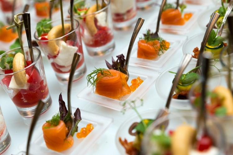 Partyrezepte Fingerfood kalt Vorspeisen Partysnacks Hochzeit