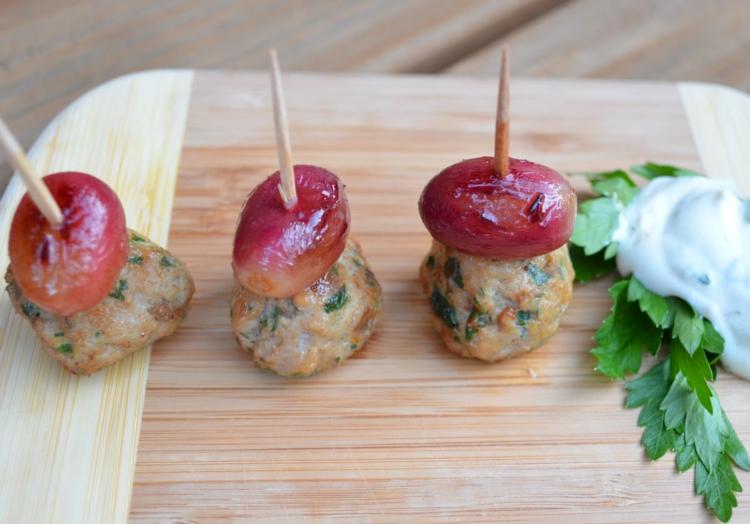 Partysnacks-Rezepte-vegetarische-Spieße-Oliven